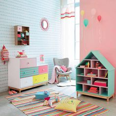 Excellent Dream Children's Room: Amazing Decor and Interior Design Ideas archite… - kinderzimmer Baby Bedroom, Girls Bedroom, Trendy Bedroom, Garden Bedroom, Bedroom Wall, Kids Room Design, Nursery Design, Little Girl Rooms, Kid Spaces