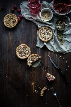 raspberry cardamom almond tarts // a guest post for adventures in cooking!