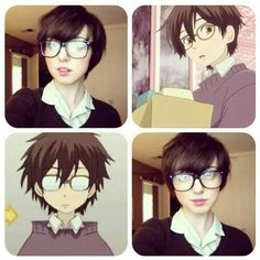 Haruhi Fujioka cosplay What i wanna know is how they all thought somene who looked like this was male.. Ouran High School Host Club    This cosplay is amazing