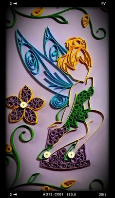 Image result for quilled tinkerbell