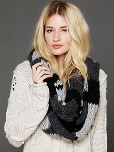 Free People Patchwork Infinity Scarf