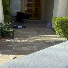 Versaille stone entry Tile Installation, Carpet Tiles, Tile Floor, Hardwood, Sidewalk, Flooring, Stone, Natural Wood, Rock