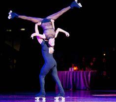 Sara Venerucci y Danilo Decembrini - Italian pairs artistic roller skating champions
