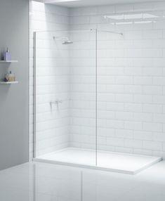White Bathroom Tiles in a Wet Room or En Suite