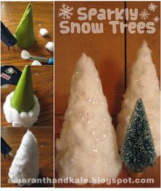 Amaranth & Kale: Sparkly Snow Trees