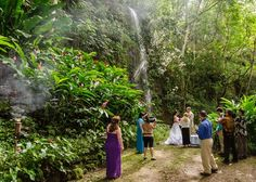 Hawaiian Wedding Dream | Kauai Waterfall Wedding Hawaii Life, Kauai Hawaii, Hawaii Vacation, Hawaii Travel, Elopement Wedding, Elope Wedding, Dream Wedding, Kauai Waterfalls, Hawaiian Destination Weddings