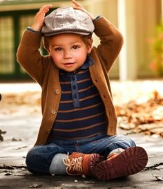 I wish they had smaller sizes in this outfit, I would have my 4 month old son in this