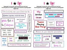 Here's my Eye (I) Spy!! :  wedding black diy inspiration pink reception Eyespy2