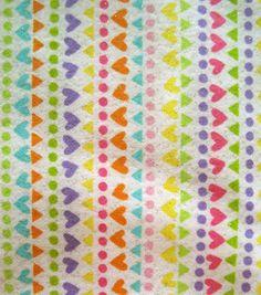 Snuggle Flannel Fabric- Funky Heart Stripe Glitter: flannel fabric: fabric: Shop | Joann.com