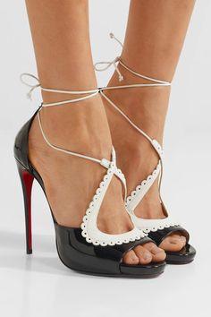 Christian Louboutin   Operissima 120 matte and patent-leather sandals   NET-A-PORTER.COM