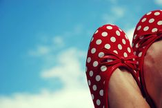 polka dot shoes in the sky Polka Dot Flats, Polka Dots, Anton, Miller Sandal, Red Shoes, Red Flats, Women's Shoes, Keds, Red And White
