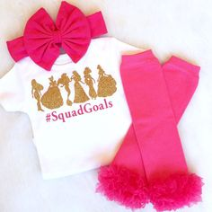 The perfect outfit for Disney World, to Announce a Disney Trip, The Plane ride there, or for any Disney Princess Lover! #SquadGoals outfit