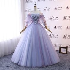 Custom Women Prom Dress Ball Gown Long Quinceanera Dress Floral Flowers Masquerade Prom Dress Wedding Bride Gown Illusion Back - Quinceanera Dresses - Ideas of Quinceanera Dresses Ball Gown Dresses, 15 Dresses, Pretty Dresses, Beautiful Dresses, Big Prom Dresses, Pageant Dresses, Dress Long, Chiffon Dresses, Tulle Dress