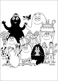 57 Barbapapa printable coloring pages for kids. Find on coloring-book thousands of coloring pages. Character Illustration, Illustration Art, Illustrations, Colouring Pages, Coloring Books, Machine Silhouette Portrait, Childhood Characters, Doodle Inspiration, Printable Coloring