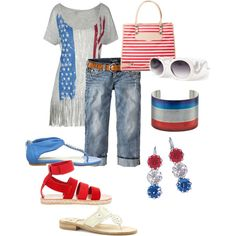 4th of July outfit, created by renee-marie-dingus-kennedy.polyvore.com