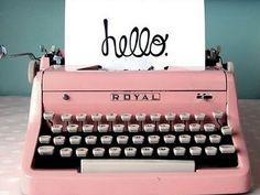 beautiful pink typewriter