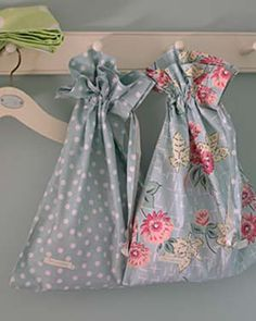 Different Laundry bag Ideas for my bathroom. Just something to save space and look cute. :)