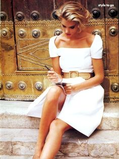 Simple but beautiful white summer dress. by Naghma