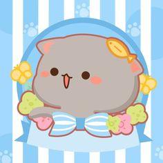 Cute Cartoon Images, Cute Cartoon Animals, Cute Images, Cute Bear Drawings, Cute Kawaii Drawings, Cute Love Gif, Cute Love Pictures, Chibi Cat, Anime Chibi