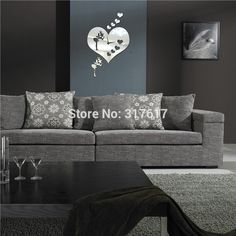 Store - Amazing prodcuts with exclusive discounts on AliExpress Mirror Wall Clock, Sofa, Couch, Furniture, Home Decor, Settee, Settee, Decoration Home, Room Decor