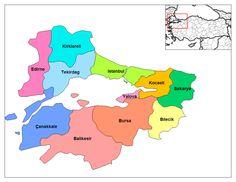 TÜRKİYE'NİN BÖLGELERE GÖRE ŞEHİR DAĞILIMI - turkiye7bolge - Blogcu.com