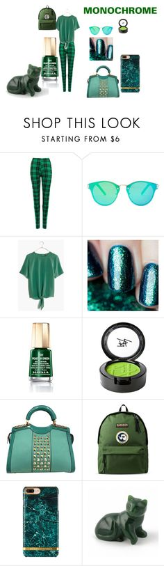 """""""Monochrome: Green"""" by carcar122204 ❤ liked on Polyvore featuring WearAll, Floats, Madewell, Gaia, Mavala, Beauty Is Life, Napapijri and monochrome"""