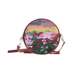 Impressionist of flowers 3 Round Messenger Bag (Model 1647)
