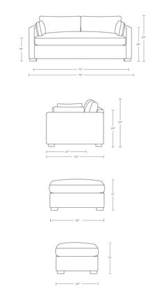 Autocad 3d Modeling, Drawing Furniture, Elevation Drawing, Sofa Bed Design, Interior Design Sketches, Kitchen Size, Loft House, Custom Sofa, Contemporary Sofa