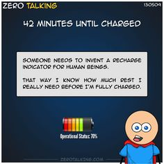 42 minutes until charged #ZeroTalking