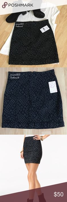 """Free People Pencil Silhouette Floral Mini Skirt This adorable pencil silhouette denim mini skirt from Free People will be your go to fashion statement for the upcoming season. Wear with tights and ankle booties to make your fashion pop. Measures 13.5"""" waist, 16"""" length. Zipper back with hook. Made of cotton 53%, rayon 23%, 22% polyester and 2% spandex. This will hug your curves. Color is a dark denim with floral design. 🚫Trades Free People Skirts Mini"""