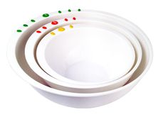 The 3 Piece Curious Chef Mixing Bowl Set features color-coded mixing bowls in 1…