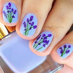 Lavender Nails #ruthsnailart #nailart #floralnails