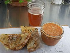 Bleubird, Boise. Grilled Cheese Sandwich and Tomato Basil Soup.