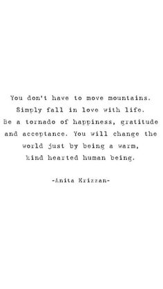 you don't have to move mountains