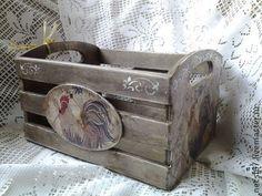 Корзины, коробы ручной работы. Ярмарка Мастеров - ручная работа. Купить Ящик для овощей или рукоделия или специй Кантри. Handmade.