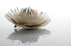 Handmade paper brooch by  Sabrina Meyns