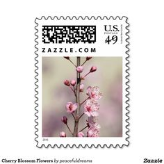 Cherry Blossom Flowers Stamp
