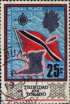 Trinidad and Tobago 1969 SG 348 Flag and Outline Fine Used Scott 153 Other West Indies and British Commonwealth Stamps HERE!