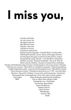 I miss you, Texas- sweet compilation of some of the best of Texas.