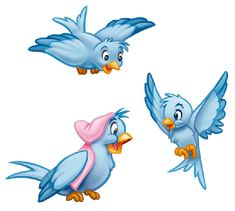 Disney Cartoon Blue Bird Cinderella - Google Search