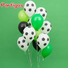 Buy Green Football Soccer Theme Party Round Balloons Black White Ballons Globo for Boys Birthday Games Toys Party Supplies Soccer Birthday Parties, Football Birthday, Soccer Party, Birthday Games, Birthday Balloons, Football Themed Parties, Kids Soccer, Sports Party, Cake Birthday