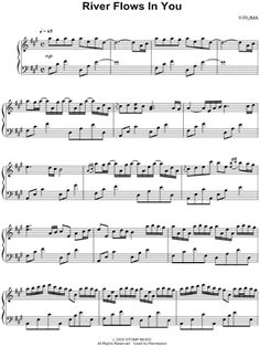 "Yiruma ""River Flows In You"" Sheet Music (Piano Solo) - Download & Print"