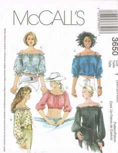 McCalls 3650 2000s Sewing Pattern  Sizes XSM/SM/M