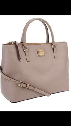 Dooney and Bourke saffiano leather Willa satchel In Oyster <3