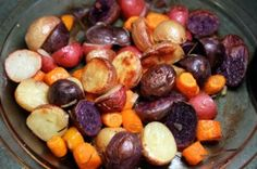 Colorful Roasted Potatoes with Carrots and Rosemary (Plus a Tasteful Selections Giveaway!)