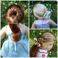 New American Girl Doll Hairstyles ~Disney Frozen Elsa ~ Inspired By Cute...