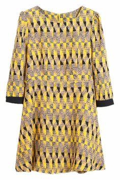 Colorful Geometric Pattern Dress