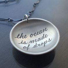 lovely sentiment on a pendant