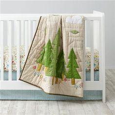 Nature Trail Woodland Crib Bedding | The Land of Nod