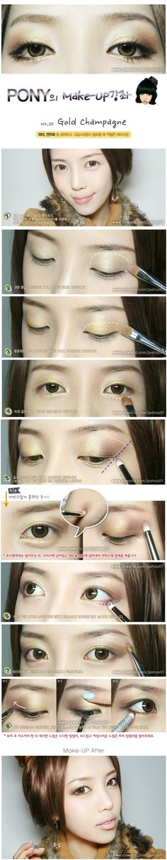 Pony Makeup Tutorial 25 Gold Champagne
